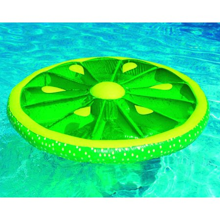 Swimline Inflatable Fruit Slice Island Pool Float Lime