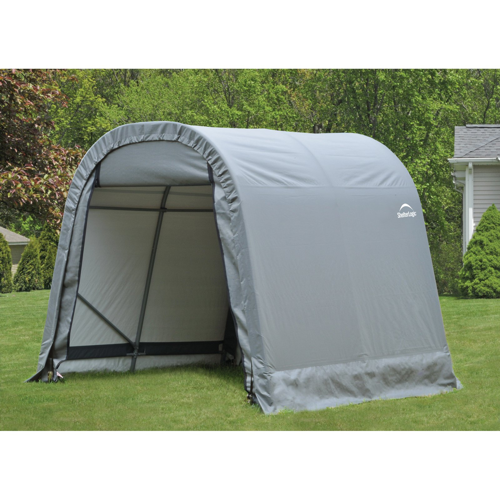 Shelterlogic 8' x 12' x 8' Round Style Shelter, Gray