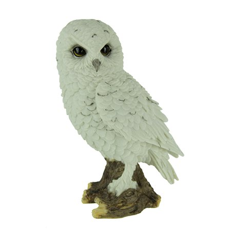 White Perch (White Snowy Owl Perched On Branch Statue )