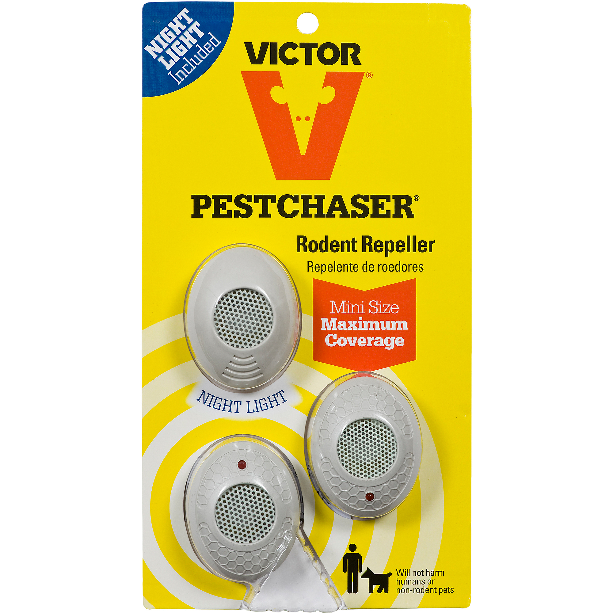 Victor Mini PestChaser Night Light Rodent Repellents, 3 count
