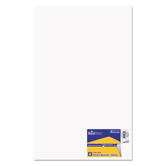 Geographics GEO24324 14 x 22 in. Premium Coated Poster Board, White by Royal