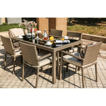 Bayou Breeze Moxley 7 Piece Dining Set with Cushions