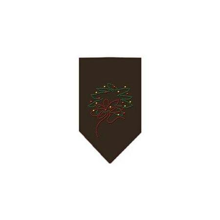 Wreath Rhinestone Bandana Cocoa - Bandana Wreath