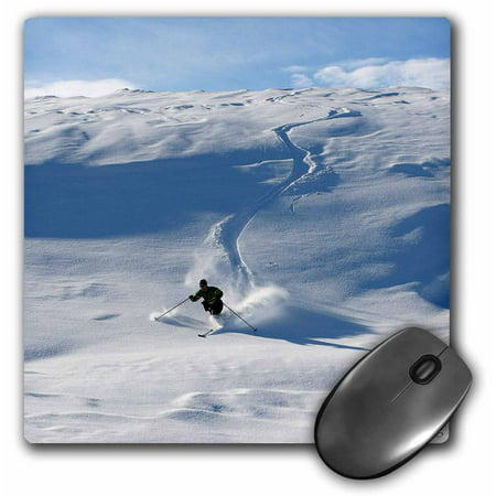 3dRose Man Stors telemark, skiing, Mouse Pad, 8 by 8 inches