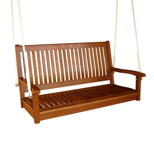 International Caravan TT-SW-007 Royal Tahiti Two-Seater Swing with Straight Back