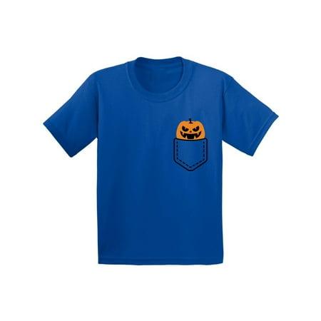 Patch Yellow T-shirt - Awkward Styles Halloween Pumpkin Pocket Tshirt Halloween Shirt for Kids Jack-O'-Lantern Pumpkin Pocket Shirt Pumpkin Patch Kids Tshirt Halloween Costume T Shirt Spooky Gifts Pumpkin Face Shirt