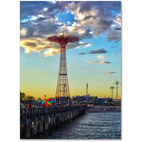 "Trademark Fine Art ""Coney Island"" Canvas Art by CATeyes"