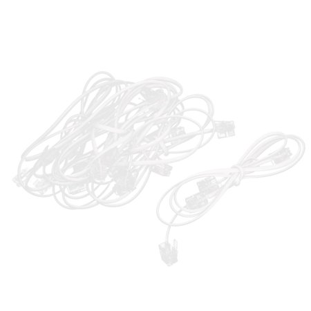 12pcs 60cm Male to Male RJ11 6P2C Telephone Extension Cord