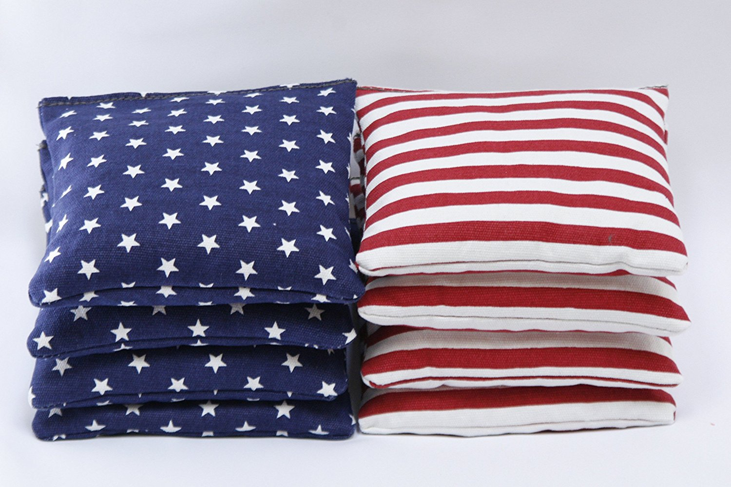 Cornhole Bags: Set of 8 Free Donkey Sports Stars and Stripes ACA regulation cornhole bags. by Free Donkey Sports?