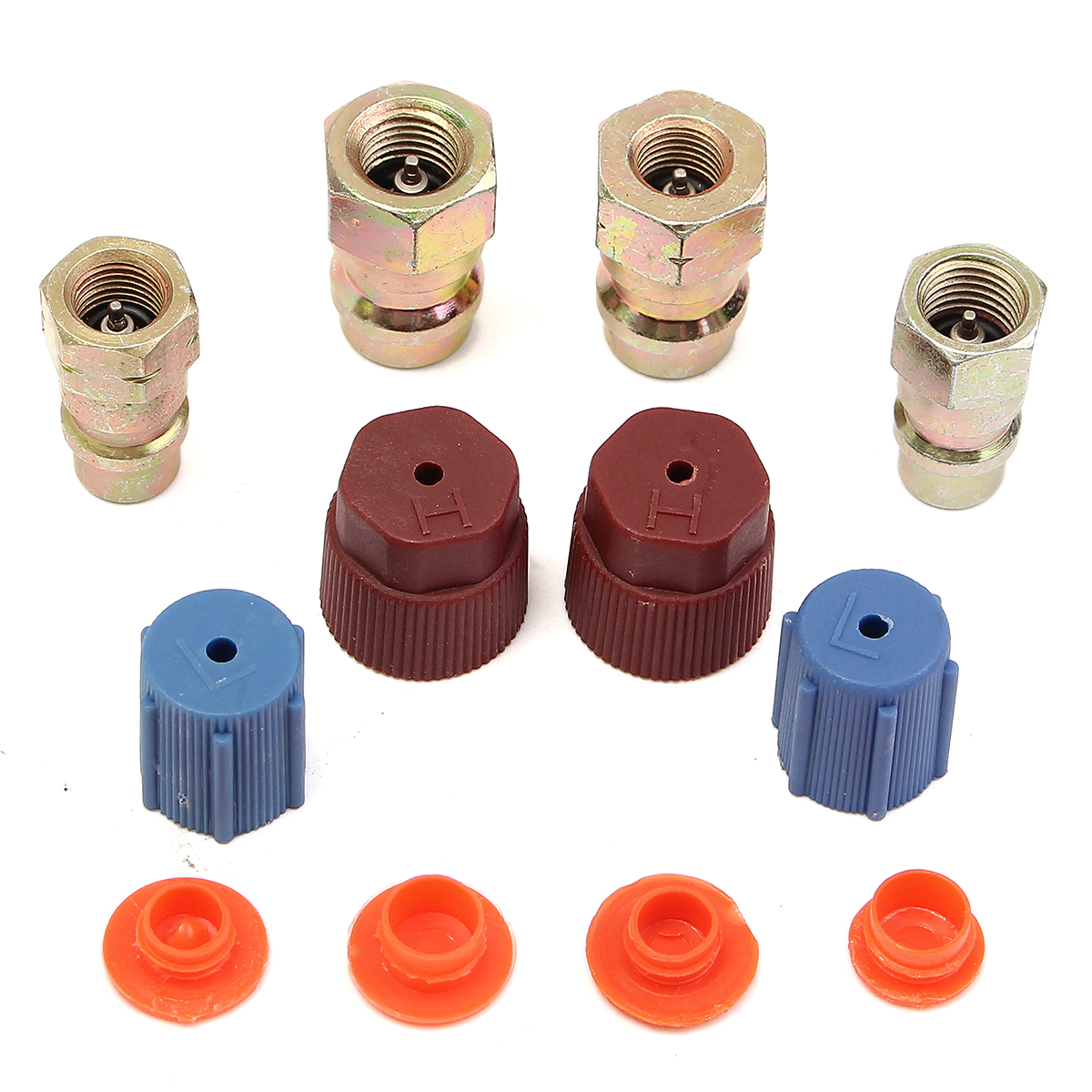 30 pcs A//C Retrofits Adapters R12 to R134a /'Quick Disconnect/' 12 kinds fittings