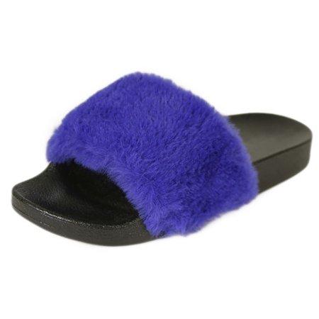 Posh Fashion - Posh Style Women's Fashion Comfy Soft Fur Slide