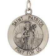 925 Sterling Silver 18 mm St. Patrick Medal Charm Pendant Necklace Fine Jewelry for Women Gifts For Her