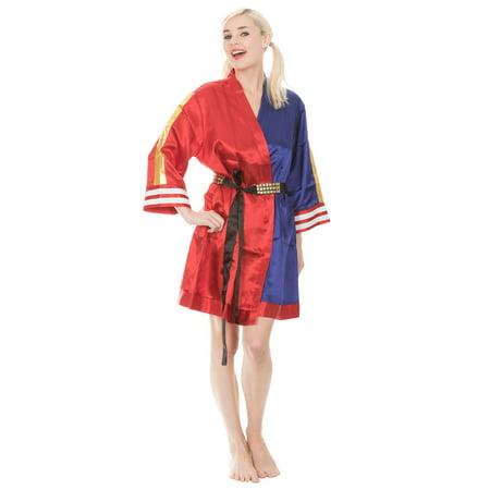 Harley Quinn Suicide Squad Cosplay Satin Robe - Harley Pajamas