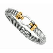 """Phillip Gavriel 18K Gold & Sterling Silver Designer Bracelet 7.5"""""""