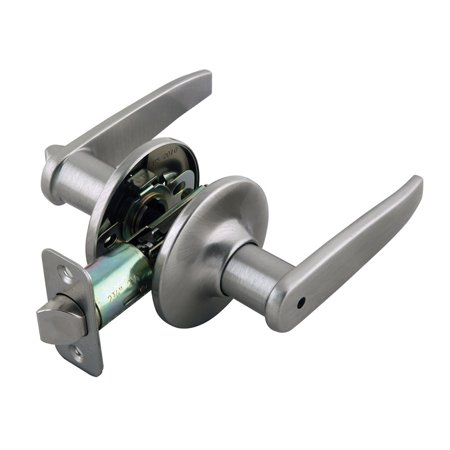 Design House 702084 Delavan 2-Way Adjustable Privacy Door Handle, ANSI Grade 3, Satin Nickel