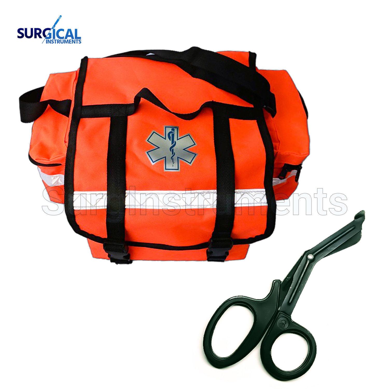 First Aid Responder EMS Emergency Medical Trauma Bag + Free EMT Shear