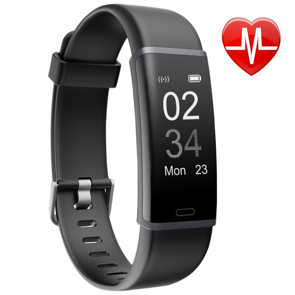 Fitness Tracker HR, VIPUS Bluetooth Activity Tracker Heart Rate Monitor w/ Sleep Monitor, Step Counter, Calorie Pedometer Counter Watch Pedometer Sleep Monitor Waterproof for Kids Women Men