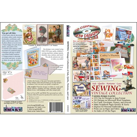 ScrapSMART Sewing: Vintage Collection Clip-Art CD-ROM: 239 Designs, 693 Designs
