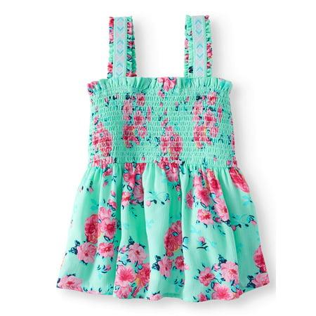 Smocked Printed Gauze Tank Top (Little Girls, Big Girls & Big Girls Plus)