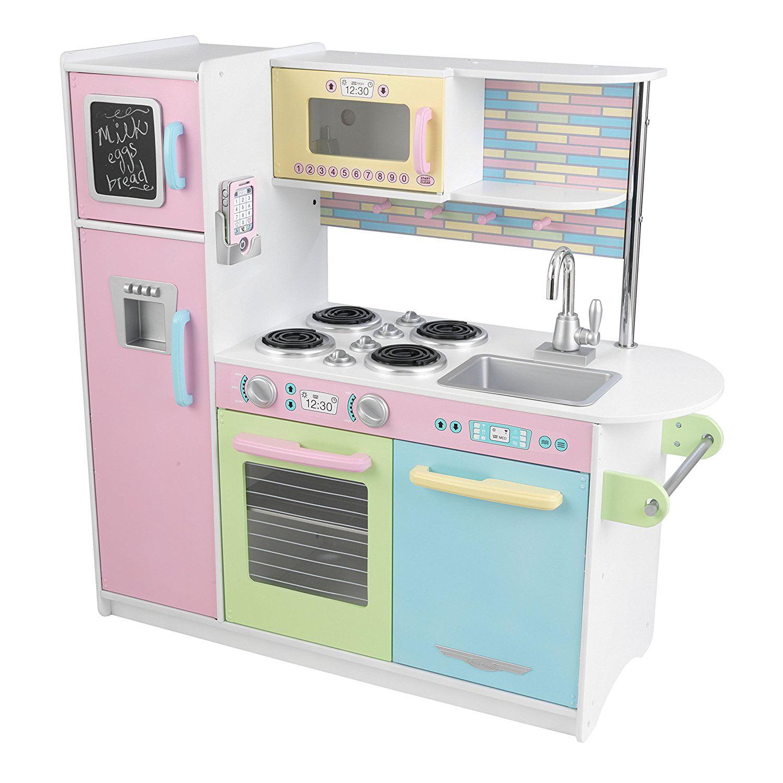 Kidkraft Uptown Pastel Kitchen Playset Walmart Com