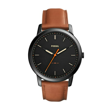 Men's Minimalist Three-Hand Leather Watch (Style: FS5305) ()