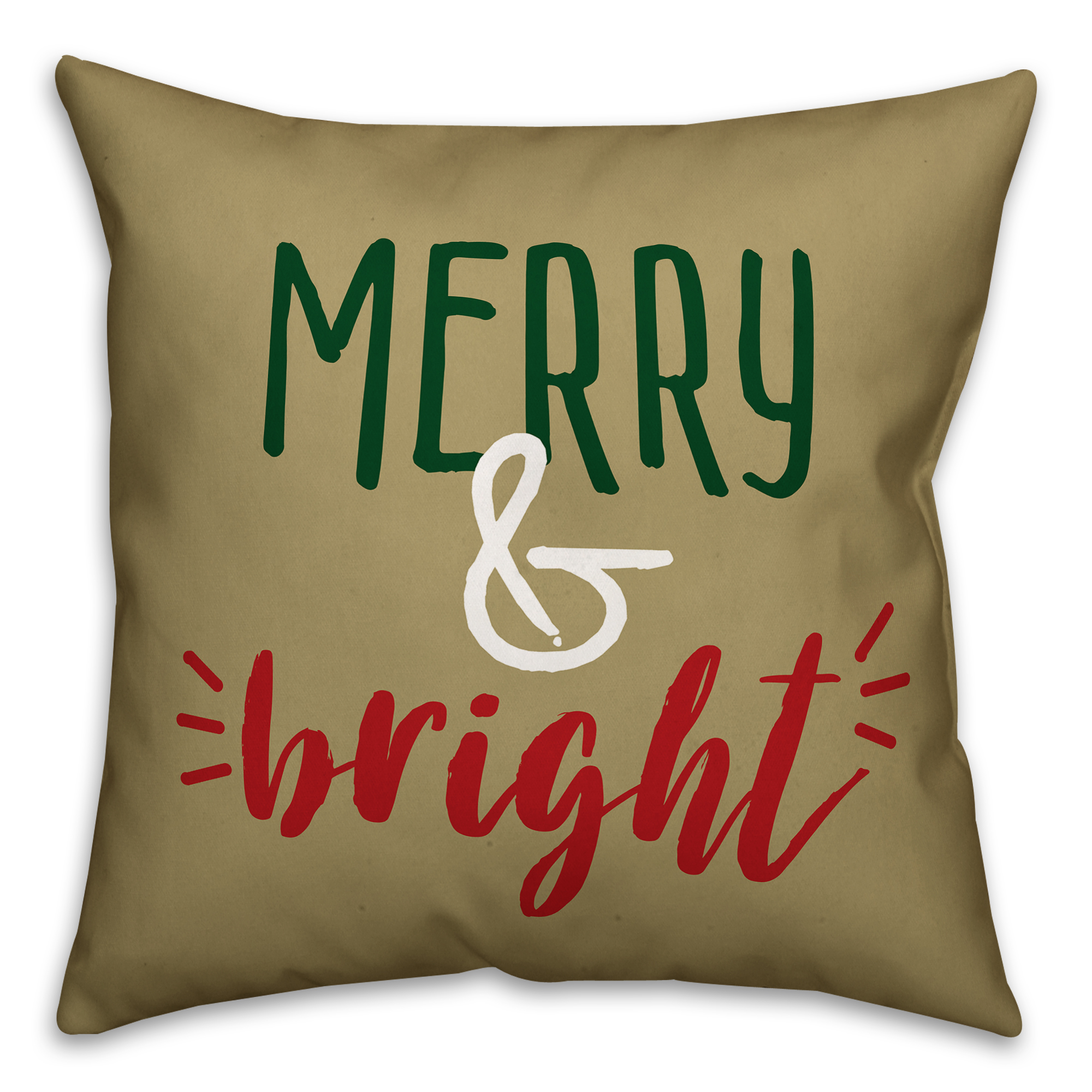 Merry and Bright 18x18 Spun Poly Pillow Cover