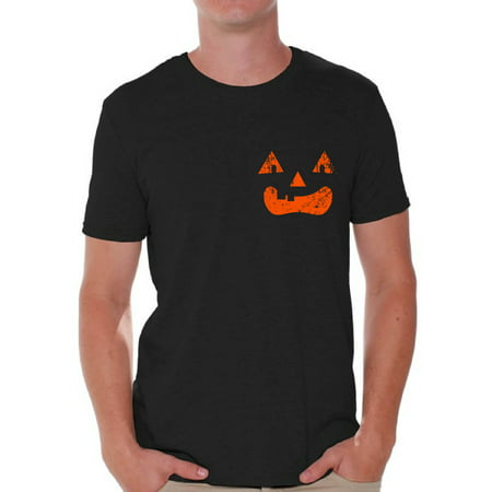 Awkward Styles Jack-O'-Lantern Tshirt Men's Halloween Shirt Spooky Gifts for Halloween Jack-O'-Lantern Pumpkin T-Shirt Scary Halloween Outfit Halloween Pumpkin T-Shirt Halloween Shirts for Men (Halloween Outfits For Men)