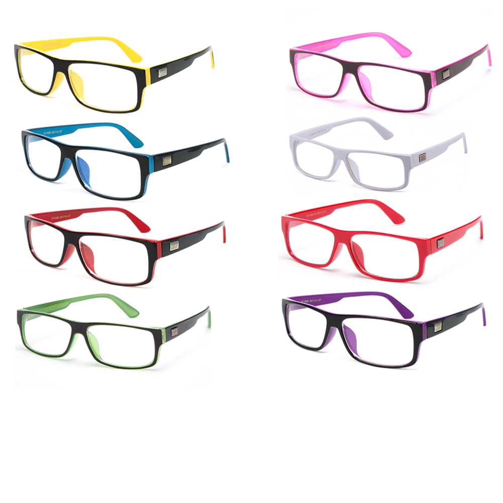 """Kayden"" Retro Unisex Plastic Fashion Clear Lens Glasses"