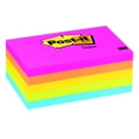Sticky note Original Notepad - 3 x 5 in. - Assorted Neon Colors, 100 Sheets-Pad, Pack 5