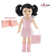 "Emily Rose 14 Inch Doll Clothes for Wellie Wishers | Doll 5 Piece Ballet Ballerina Outfit | 14"" Glitter Girls Doll Clothes and Accessories"