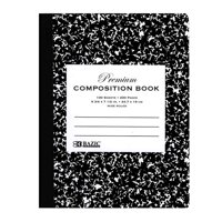 (Price/Case of 48)Bazic Products 5090-48 W/R 100 Ct. Premium Black Marble Composition Book