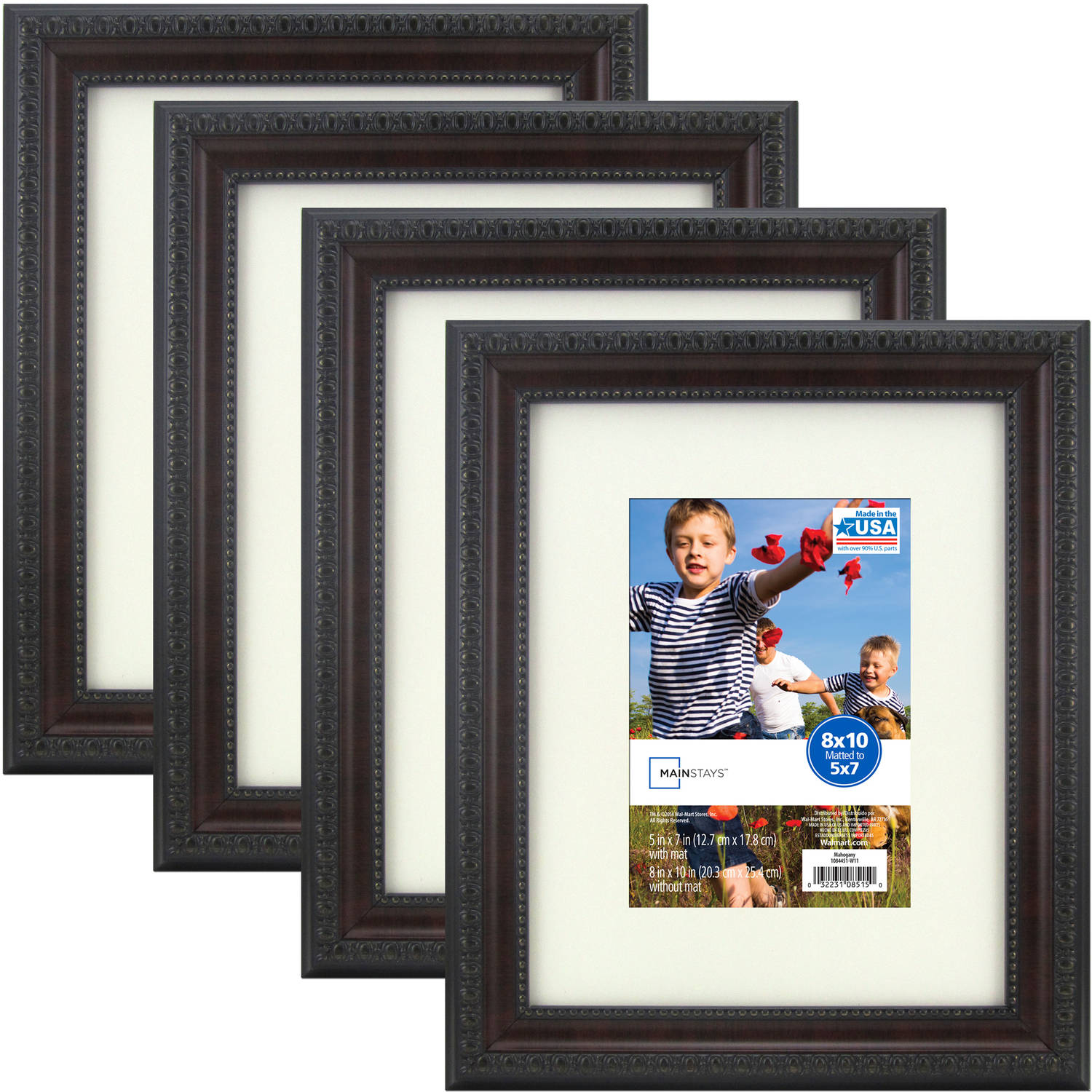 better homes and gardens 11x14 8x10 rustic wood picture frame 2pk. Black Bedroom Furniture Sets. Home Design Ideas