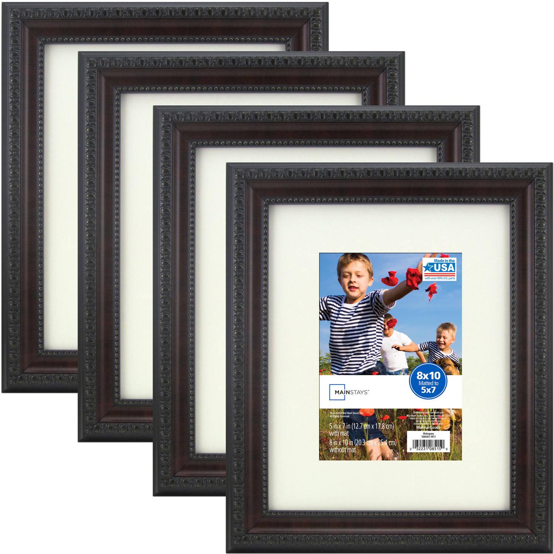 Mainstays Mahogany Frame Set Of 4 Multiple Sizes