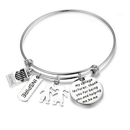 Myospark Thank you Teacher Gift Teacher Bracelet College Lecturer Appreciation Gift For Teacher Graduation Jewelry - Bracelets For Teachers
