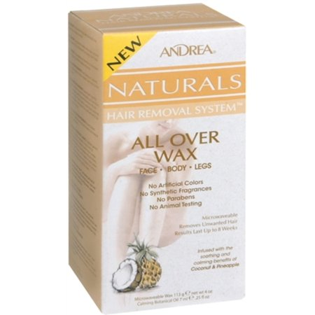 Andrea Naturals Hair Removal System All Over Wax 1 Each (Pack of