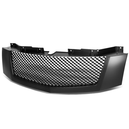 For 2007 to 2014 Cadillac Escalade / ESV / EXT ABS Plastic Glossy Diamond Mesh Style Front Bumper Grille (Black) 10 11 12 13 14 Bentley Style Mesh Grille