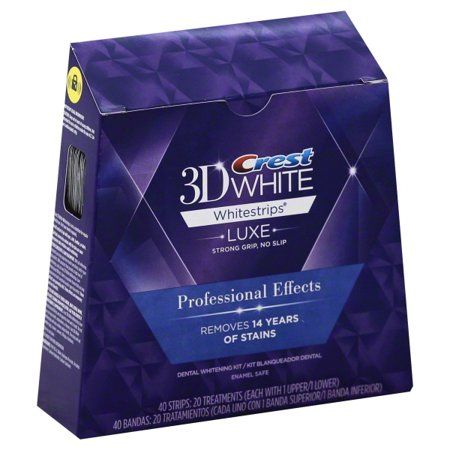 Crest 3D White Luxe Whitestrips Professional Effects Dental Whitening Kit, 20