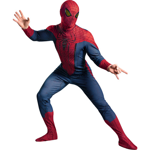 Spider Man The Amazing Spider Man Deluxe Adult Halloween Costume