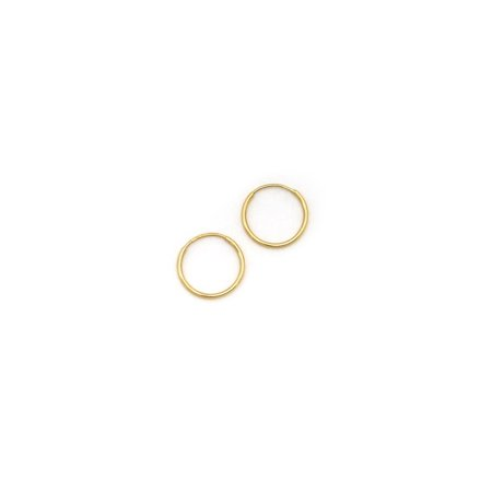 4784292c6 Beauniq - 14k Yellow, White or Rose Gold 1mm Endless Hoop Earrings, 10mm  (3/8
