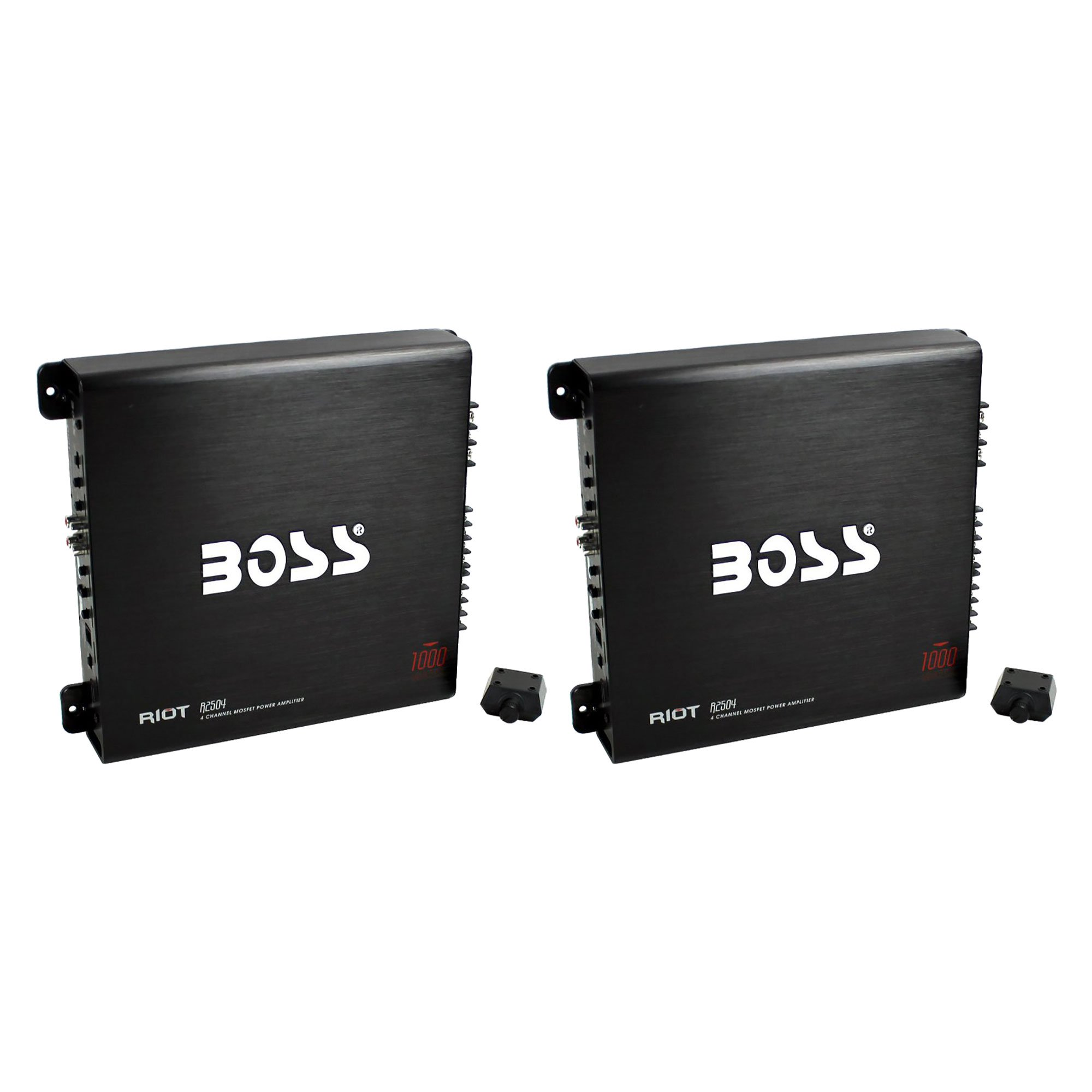 Boss Audio 1000W 4 Channel Car Audio Power Stereo Amplifier w/ Remote (2 Pack)