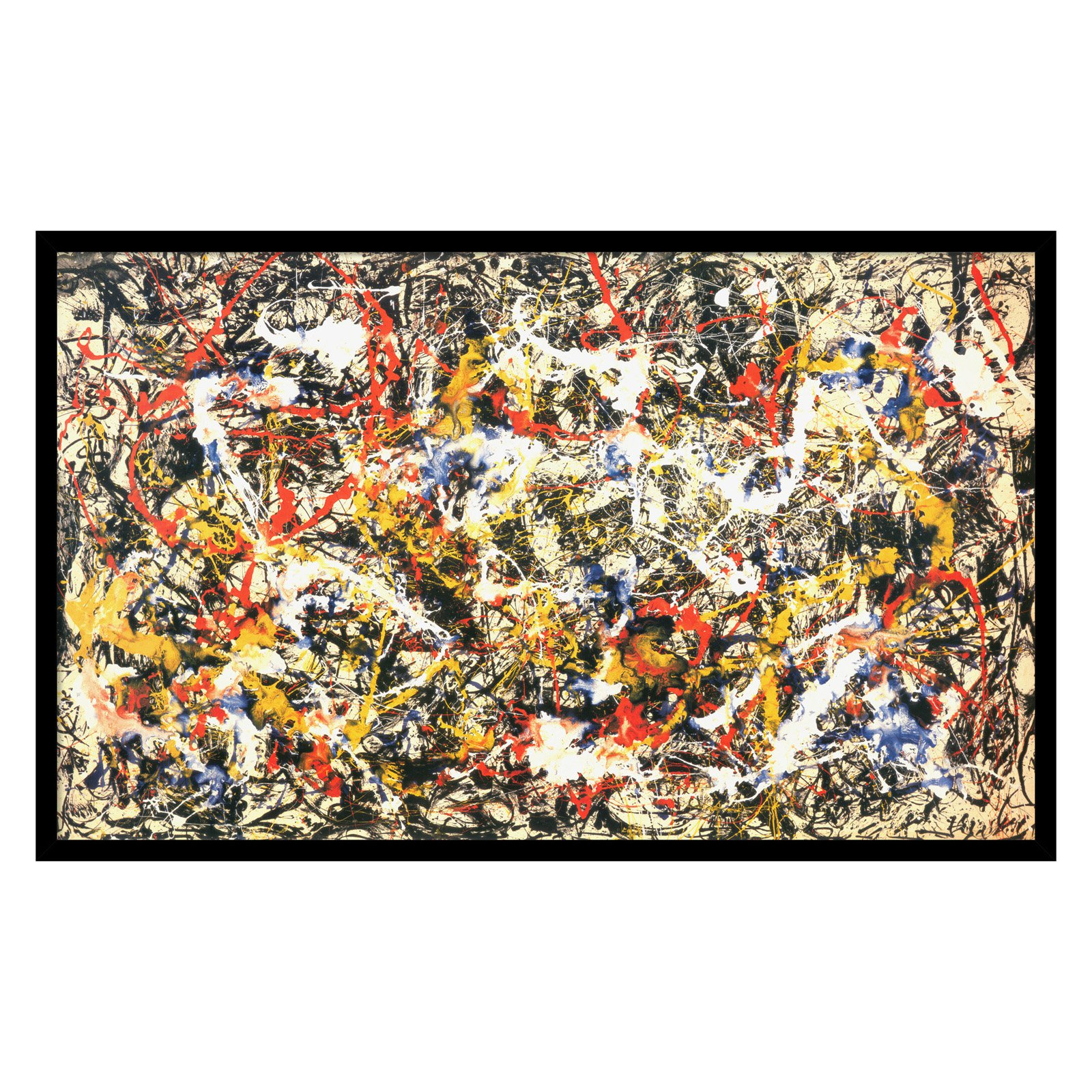 Convergence Framed Wall Art by Jackson Pollock - 37.04W x 22.79H in.