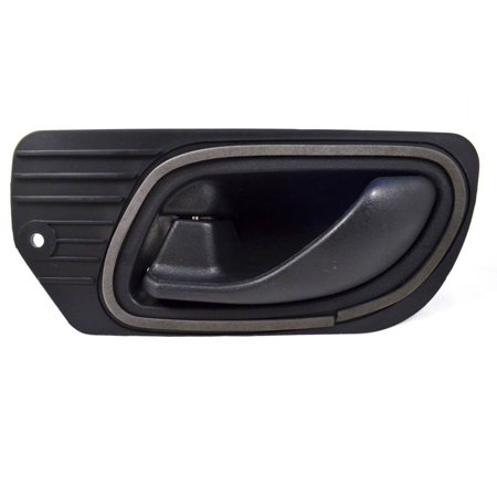 PT Auto Warehouse FO-2545A-FL - Inner Interior Inside Door Handle, Black - Driver Side Front