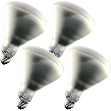 GE Indoor Halogen Floodlight Spotlight Bulb; 550 Lumens, 43-Watt (63-Watt Incandescent Replacement) BR40, 2900K Color Temperature (4 Bulbs)