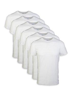 Gildan Mens Short Sleeve Crew White T-Shirt up to 2XL, 6-Pack