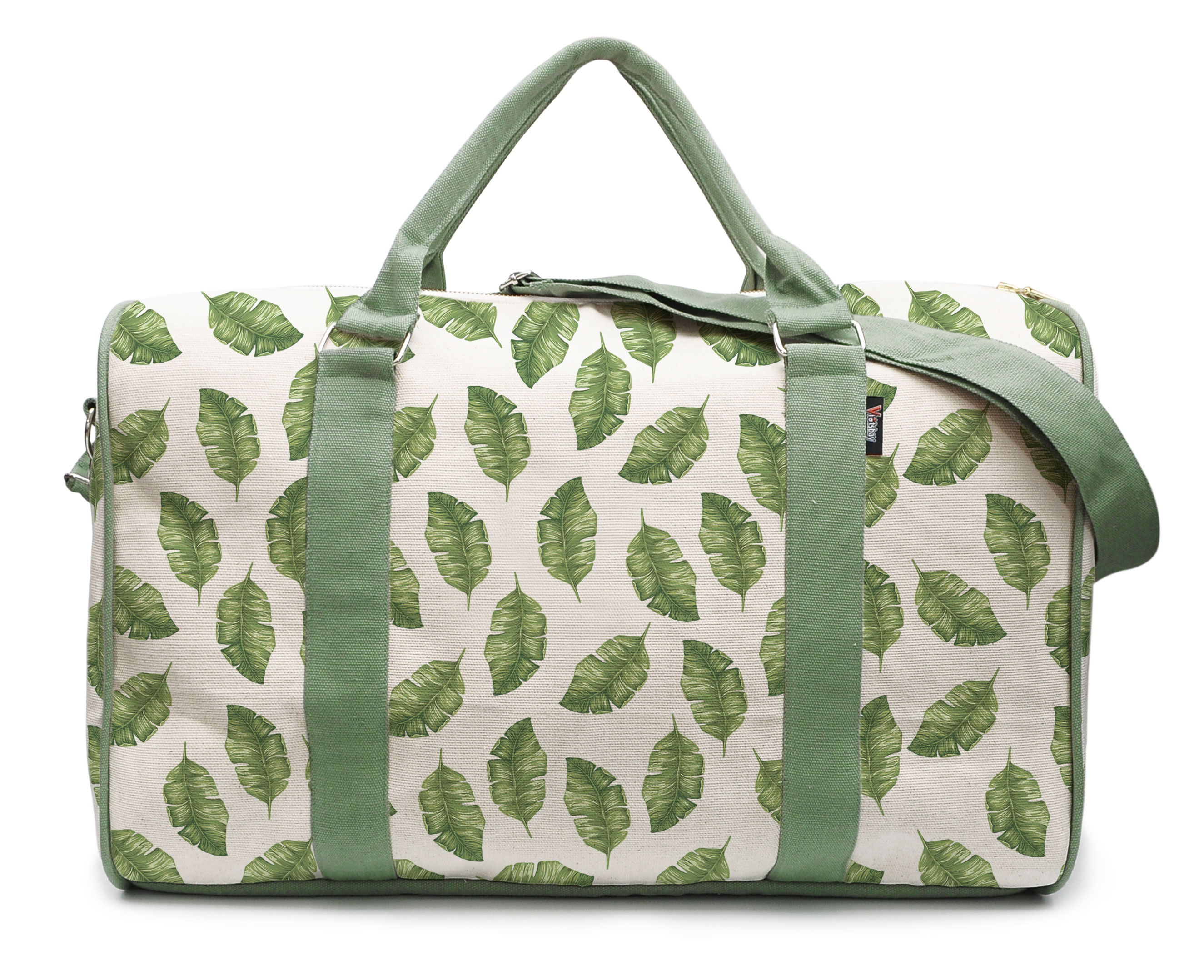 WIHVE Gym Bag with Shoes Compartment Llama Tropical Cactus Travel Duffel Bag