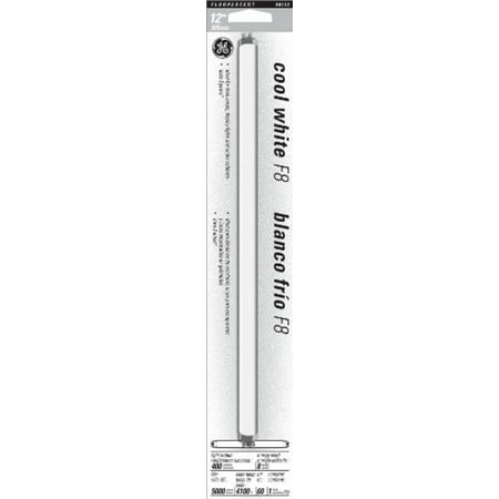 GE 15987 8-Watt 12-Inch T5 Fluorescent Light Bulb, Cool (T5 Neutral White Fluorescent Bulb)