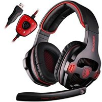 SA-903 Gaming Headset With Microphone 7.1 Surround Sound USB PC Stereo Noise-Canceling Wired Gaming Headset