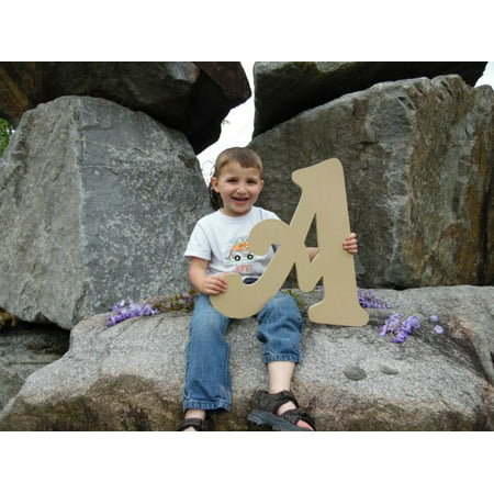 Wooden Letter (A) Unfinished 6'' Wood Craft Letter, Paintable - Unfinished Wood Craft Supplies