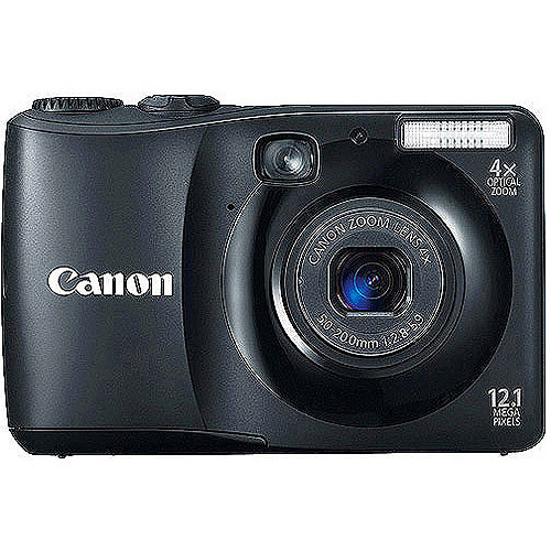"""Canon PowerShot A1200 Black 12.1MP Digital Camera with 4x Optical Zoom, 2.7"""" LCD, Smart AUTO"""