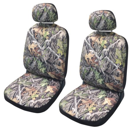 Camo Seat Cover Pair Front Row Camouflage Forest Gray Honda Civic
